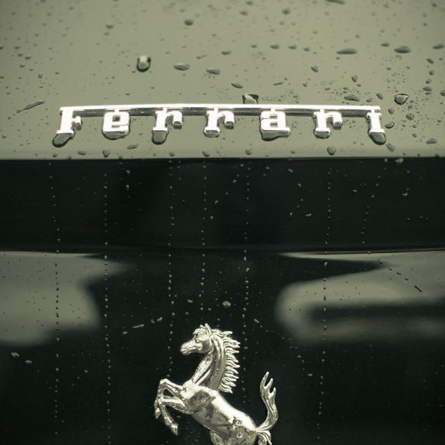 """Ferrari Badge #4"" stock image"