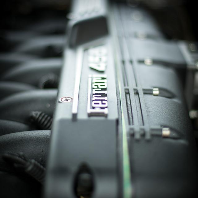 """""""Ferrari 456 Engine Top"""" stock image"""