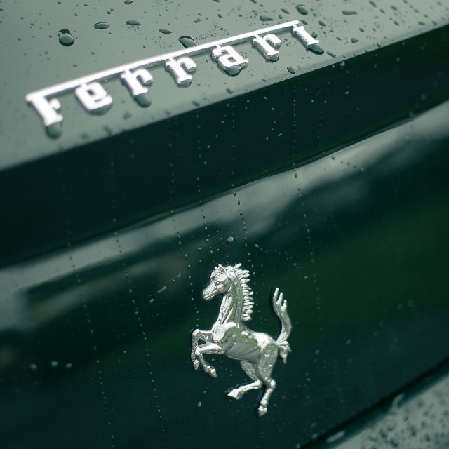 """Ferrari Badge #6"" stock image"