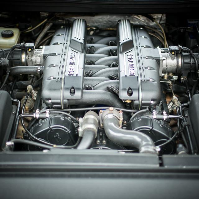 """""""Ferrari 456 Engine"""" stock image"""