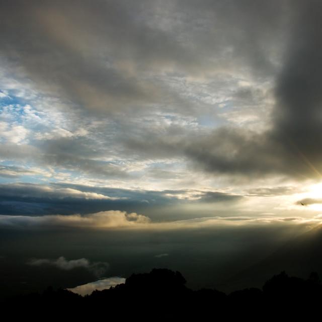 """""""Sunrise over Ngorongoro, Tanzania"""" stock image"""