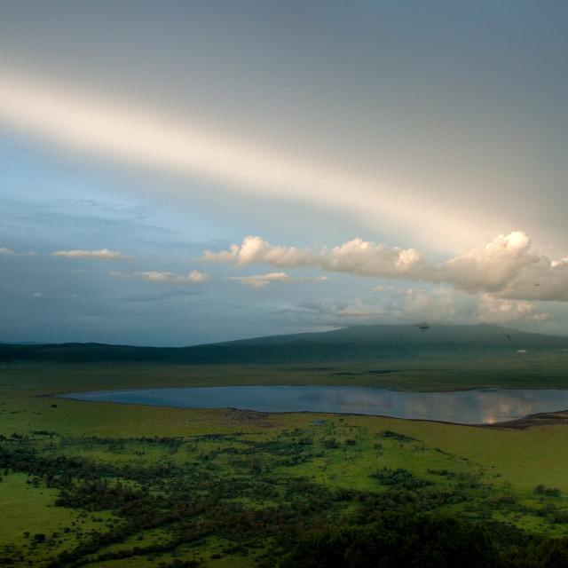 """""""Ngorongoro at dusk"""" stock image"""