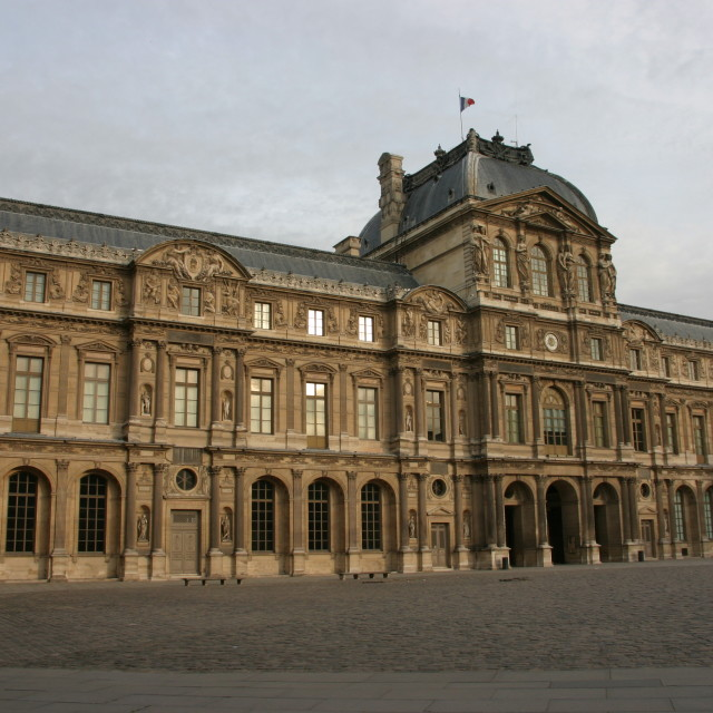 """""""Louvre at dawn"""" stock image"""