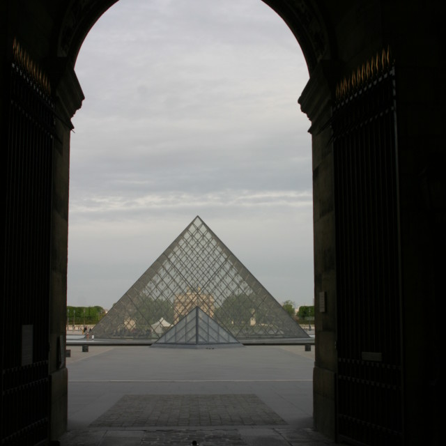 """""""Pyramide at the Louvre"""" stock image"""