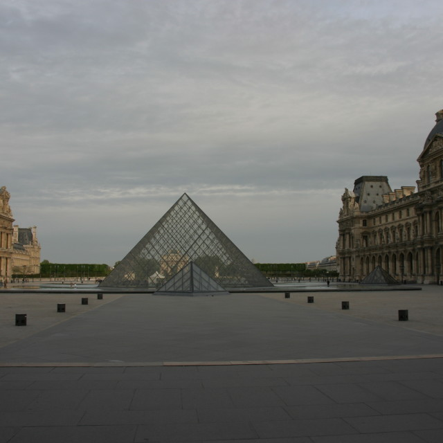 """""""Pyramide in the courtyard of the Louvre"""" stock image"""