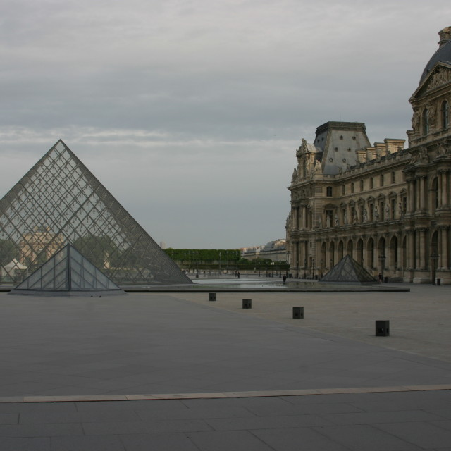 """""""Le Pyramide at the Louvre - early morning"""" stock image"""