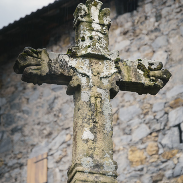 """The stone cross"" stock image"