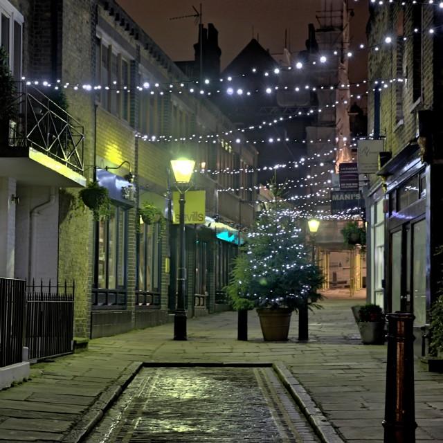 """Hampstead at night"" stock image"