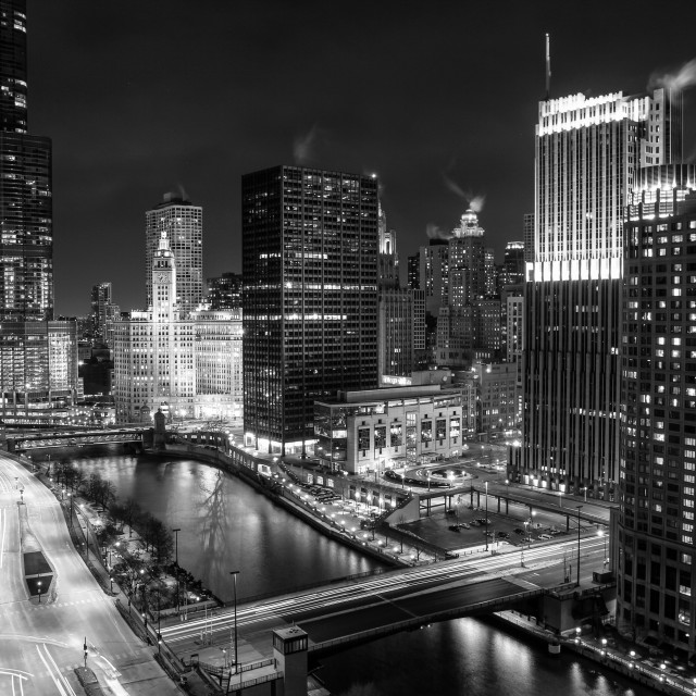 """""""Chicago River North"""" stock image"""