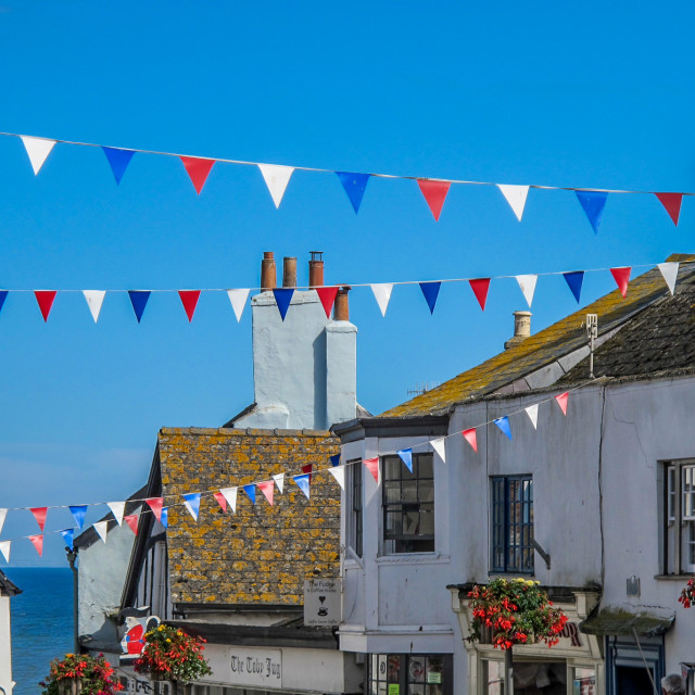 """Bunting for England"" stock image"