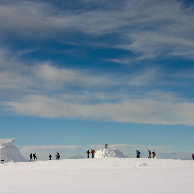 """Ben Nevis Summit in Winter-2"" stock image"