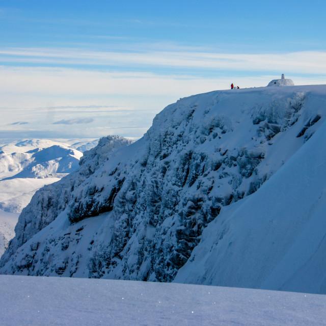 """Ben Nevis Summit in Winter-1"" stock image"