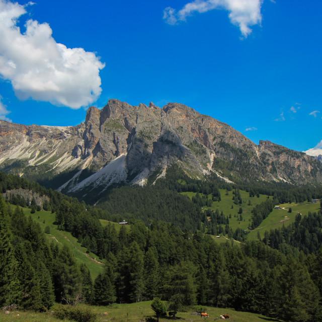 """""""Mirador in the Dolomites"""" stock image"""