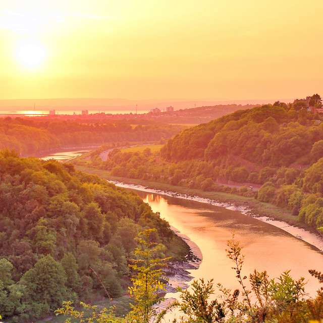 """Sunset of the Avon Gorge"" stock image"