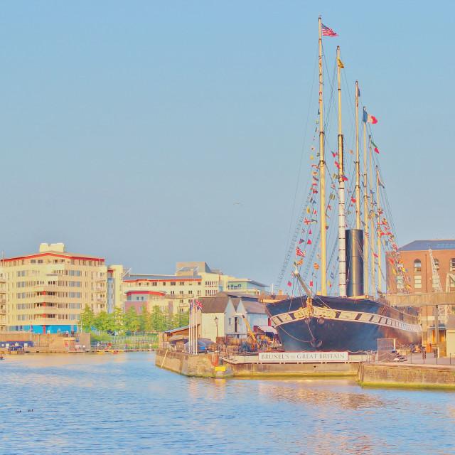 """SS Great Britain, Bristol UK"" stock image"