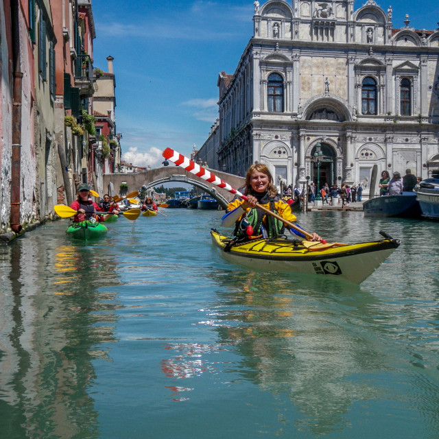 """Sea kayak Venice"" stock image"