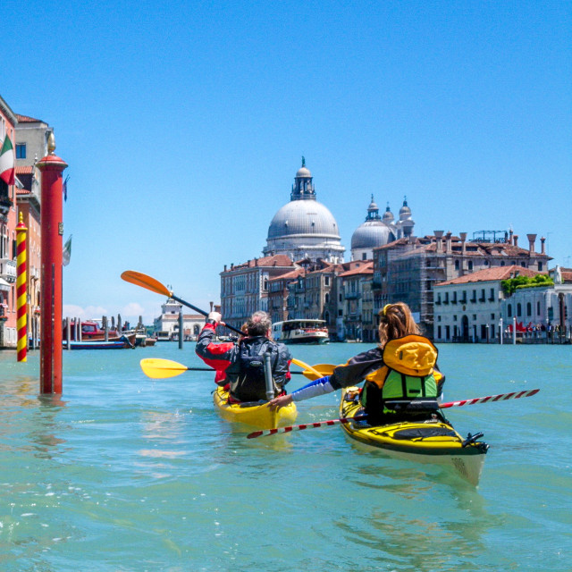 """Sea kayak Venice"" stock image"