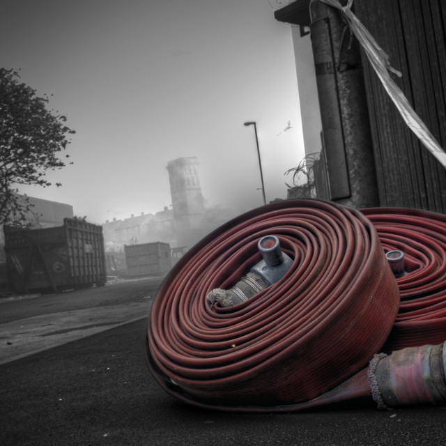 """Fire Hose"" stock image"