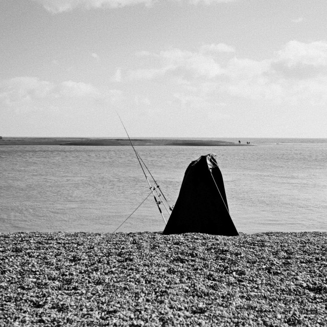 """""""Loneliness of the sea fisherman"""" stock image"""