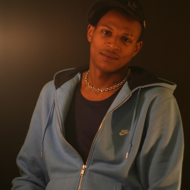 """""""Young Man In A Blue Hoody"""" stock image"""