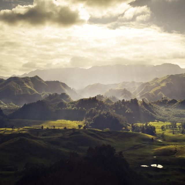 """Wide landscape, Guatemala"" stock image"