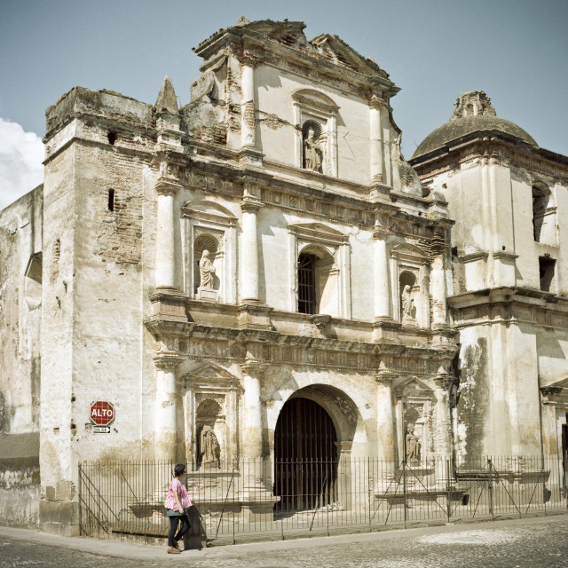 """Spanish Colonial Building, Antigua, Guatemala"" stock image"
