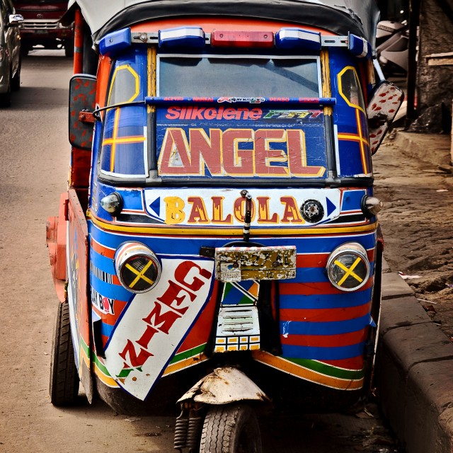 """Rickshaw, Jakarta"" stock image"
