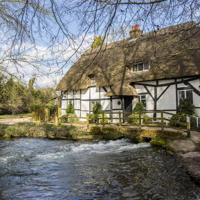 """Fulling Mill Alresford Hampshire"" stock image"