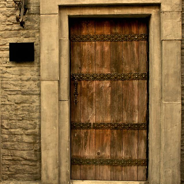 """""""Brown Door"""" stock image"""