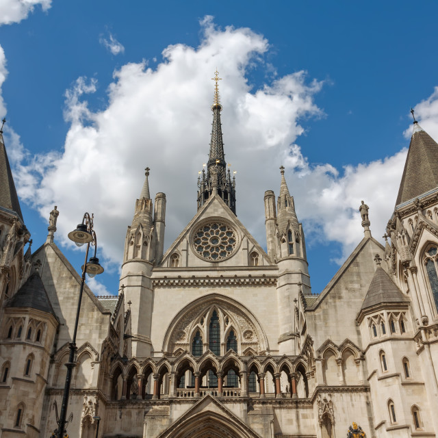 """""""Royal Courts of Justice in London"""" stock image"""
