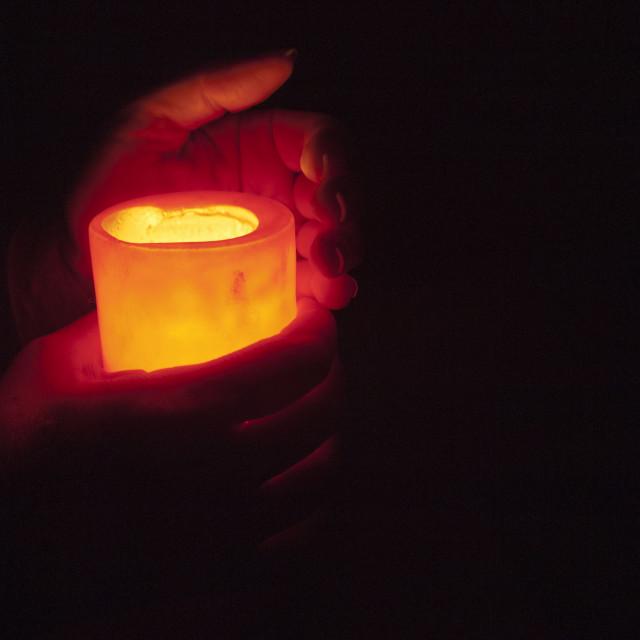 """Illuminating the darkness B"" stock image"