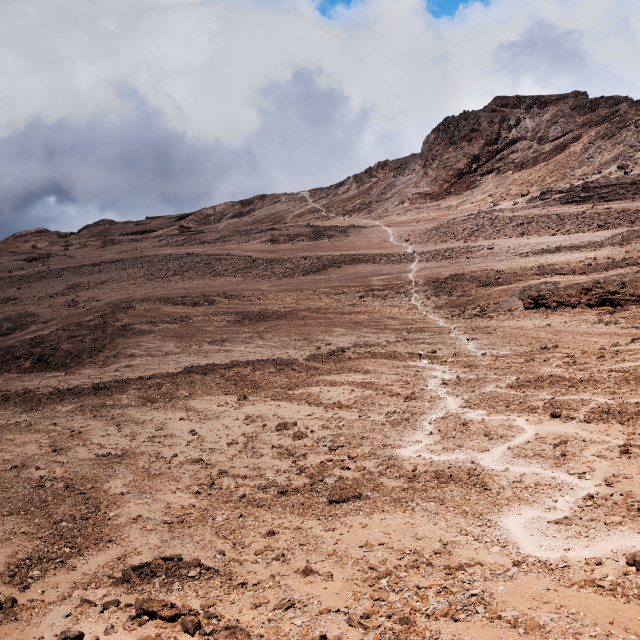 """Trekkers Trail"" stock image"