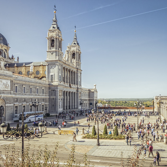 """Cathedral of Madrid"" stock image"