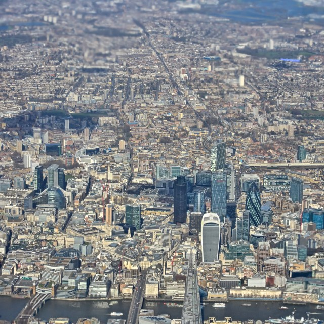 """""""London, the City Looking North"""" stock image"""