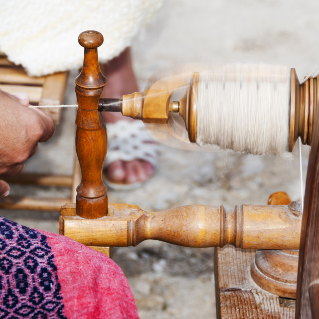 """Spinning Yarn"" stock image"