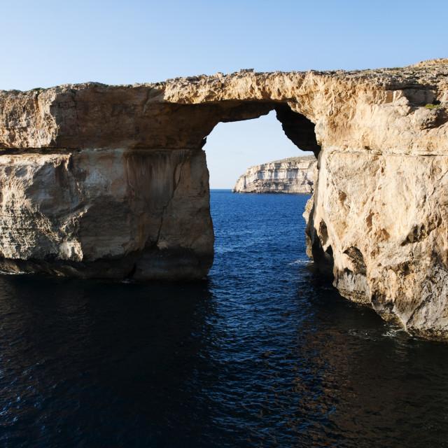 """""""Azure Window - Dwejra, Gozo"""" stock image"""