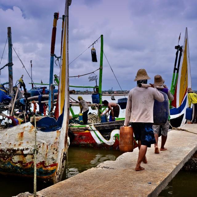"""Fishermen Semarang"" stock image"