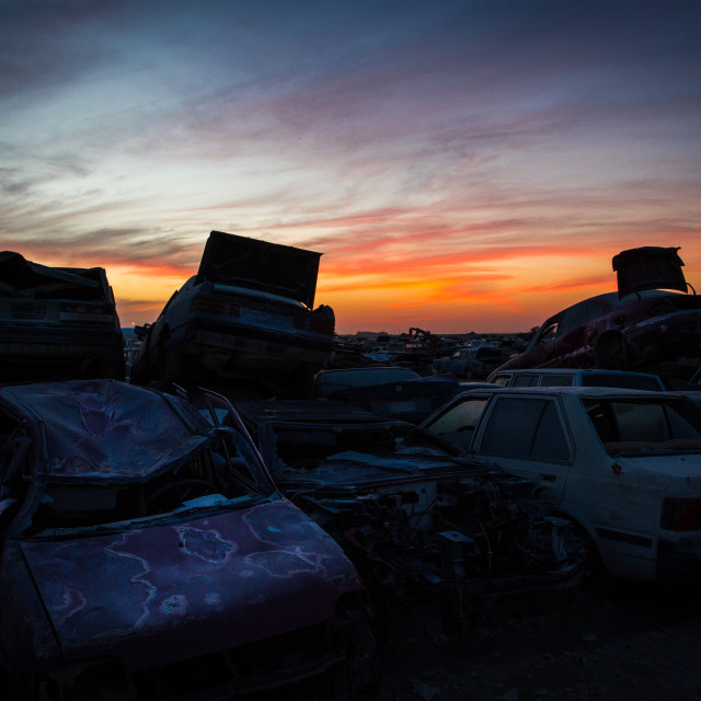 """Car graveyard"" stock image"