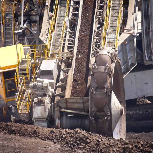"""""""Bucket wheel excavator"""" stock image"""