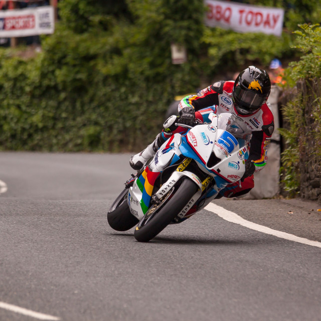 """Bruce Anstey at Union Mills"" stock image"