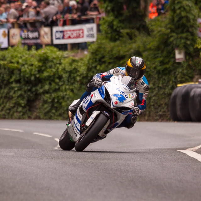 """Guy Martin at Union Mills"" stock image"