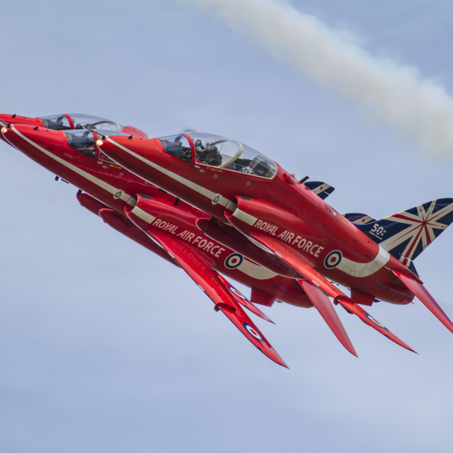 """Red Arrows trio"" stock image"