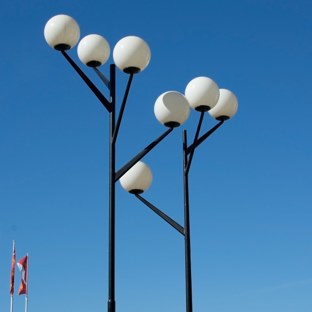 """""""Functionalism style lamp posts"""" stock image"""