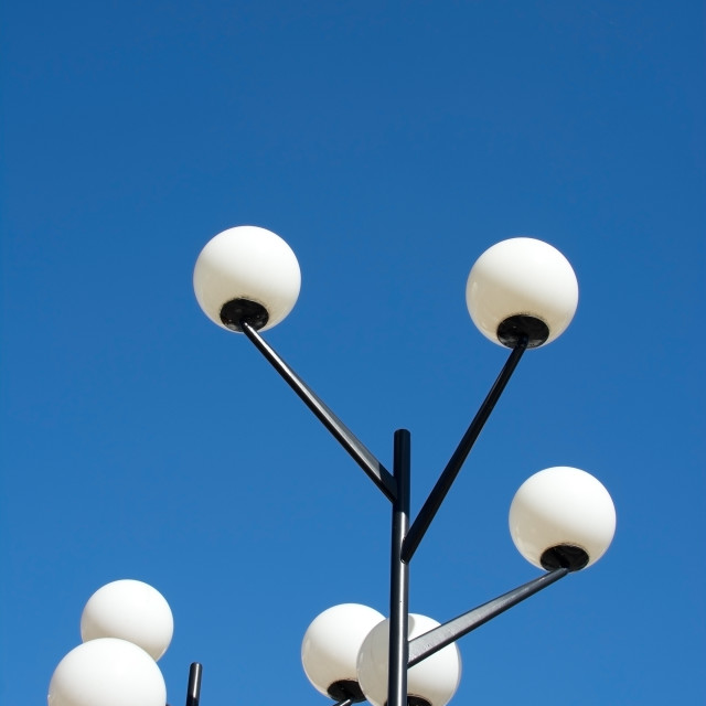 """""""Round fifties lamps"""" stock image"""