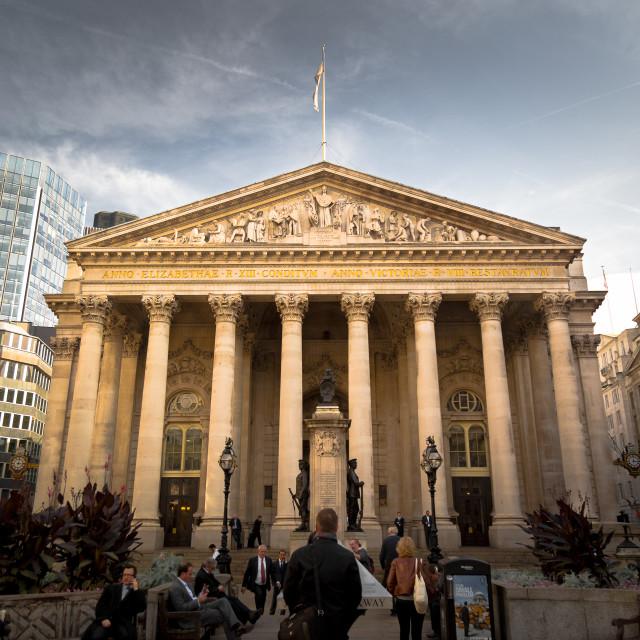 """Royal Coin Exchange, London UK"" stock image"