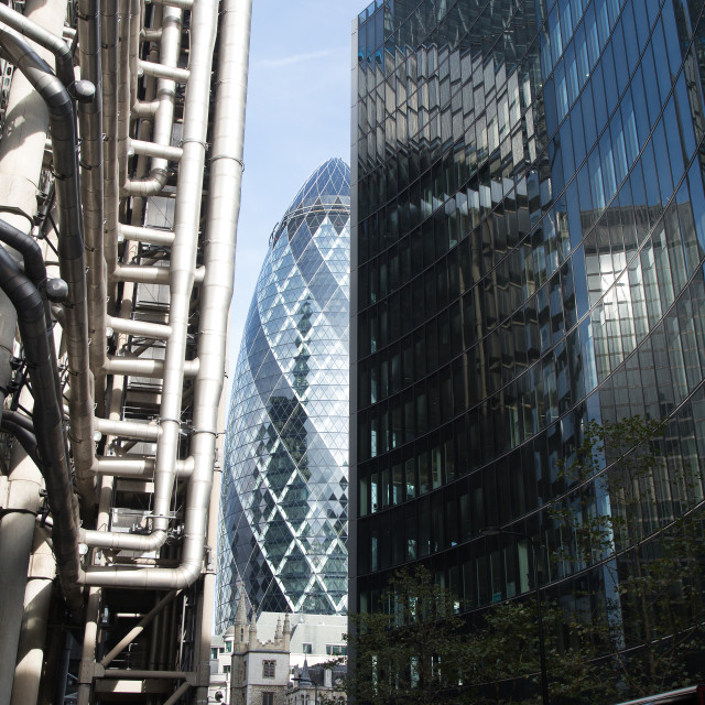 """""""London Financial District's Glass Architecture #1"""" stock image"""