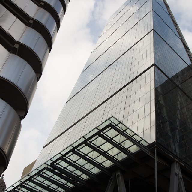 """London Financial District's Glass Architecture #4"" stock image"