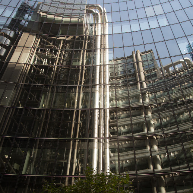 """""""London Financial District's Glass Architecture #2"""" stock image"""