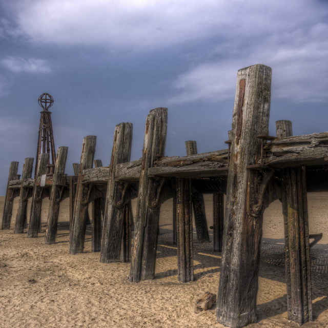 """Abandoned Jetty Side"" stock image"