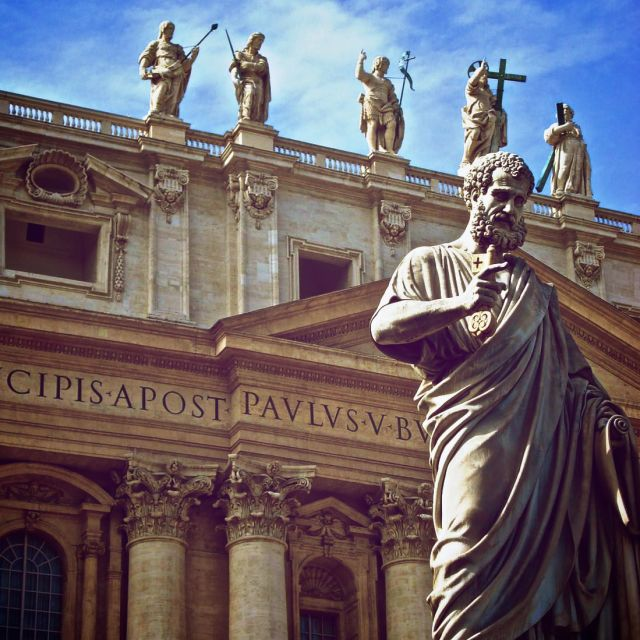 """St. Peter guards the Vatican"" stock image"